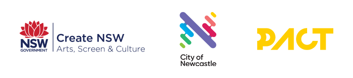 Create NSW Logo; City of Newcastle Logo; PACT Logo